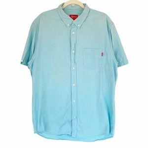 Supreme 100% Cotton Short Sleeve Button Down Shirt